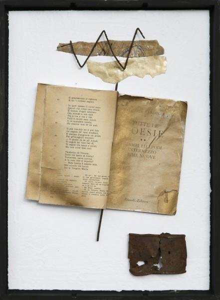Senza titolo, 2016, grafica, libro e ferro inseriti in scatola di legno, 30x40