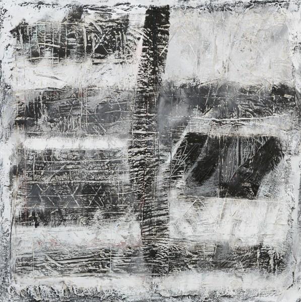 Codici 2, 70x70, tecnica mista su tavola, 2016