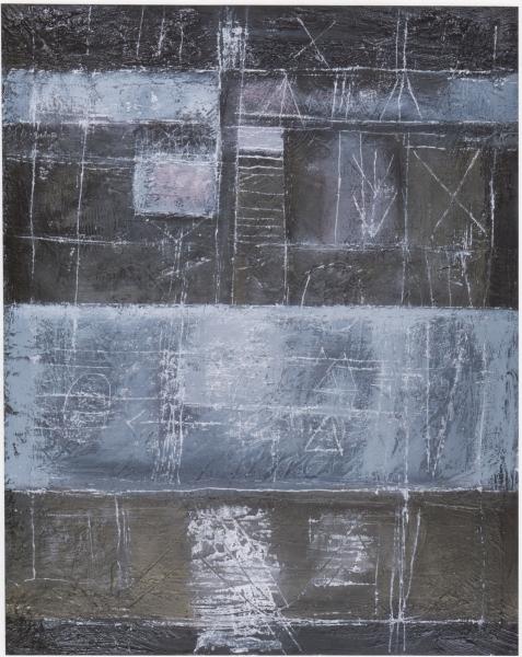 Diario, 1997, tecnica mista su tavola, 80x100