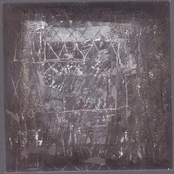 Fantasticando, 1999, tecnica mista su tavola, 70x70