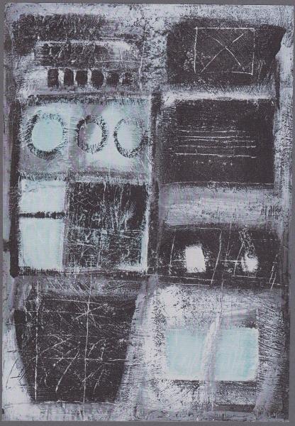 Geometria dell'anima, 1995, tecnica mista su legno, 70x100