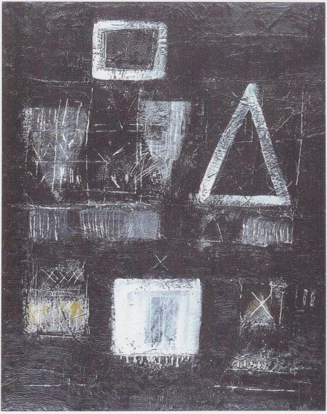 Geometria dell'anima, 2005, tecnica mista su legno, 70x100