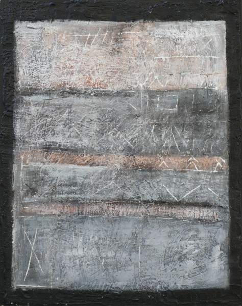 I confini della memoria 2, 100x80, tecnica mista su tavola, 2014