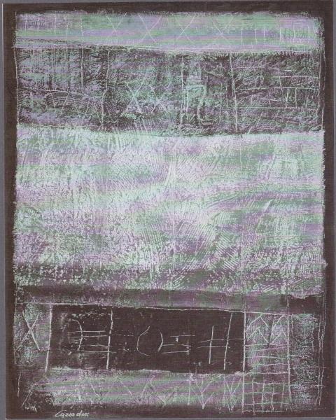 I confini della memoria, 2000, tecnica mista su tavola, 80x100