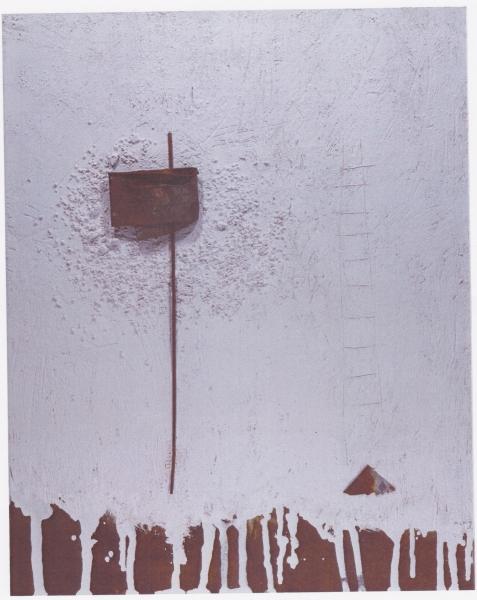 Il mormorio del silenzio, 2009, tecnica mista su legno, 80x93