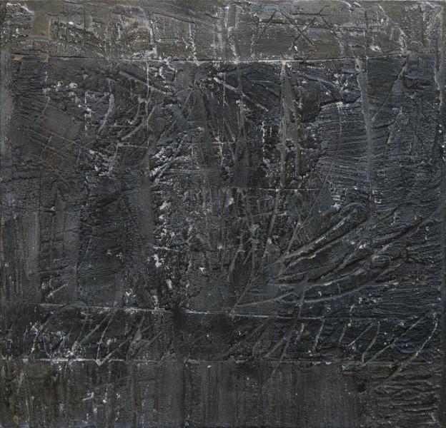 Le possibilità del segno, 2013, tecnica mista su tavola, 48x50