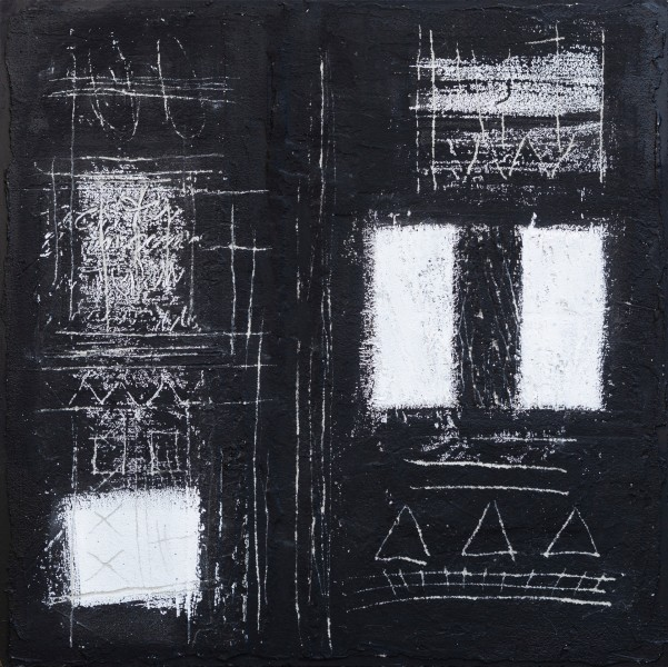 Unicità, 70x70, tecnica mista su tavola, 2017