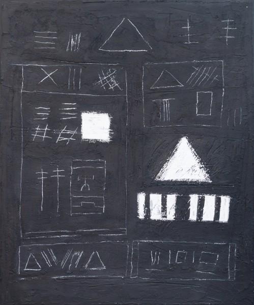 Geometrie della memoria, 120x100, tecnica mista su tavola, 2020