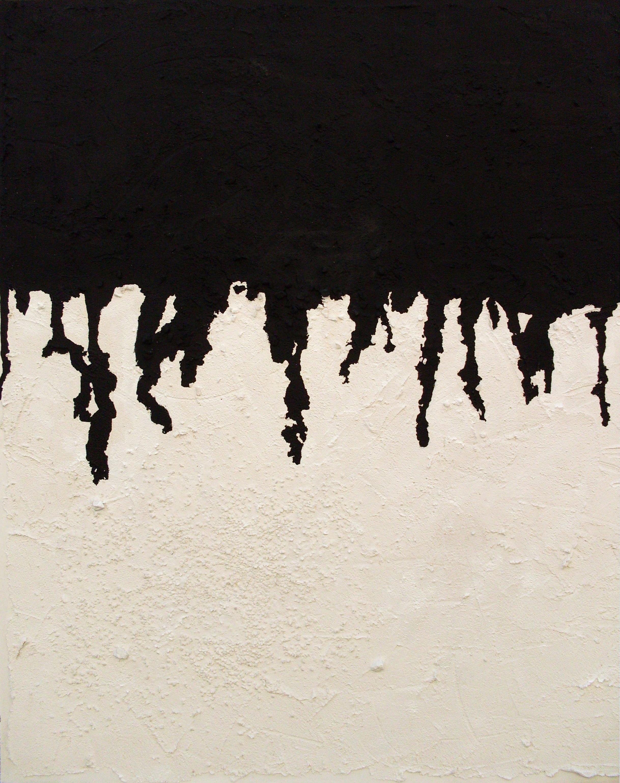 Cadute silenziose, tecnica mista su tavola, 110x82, 2011