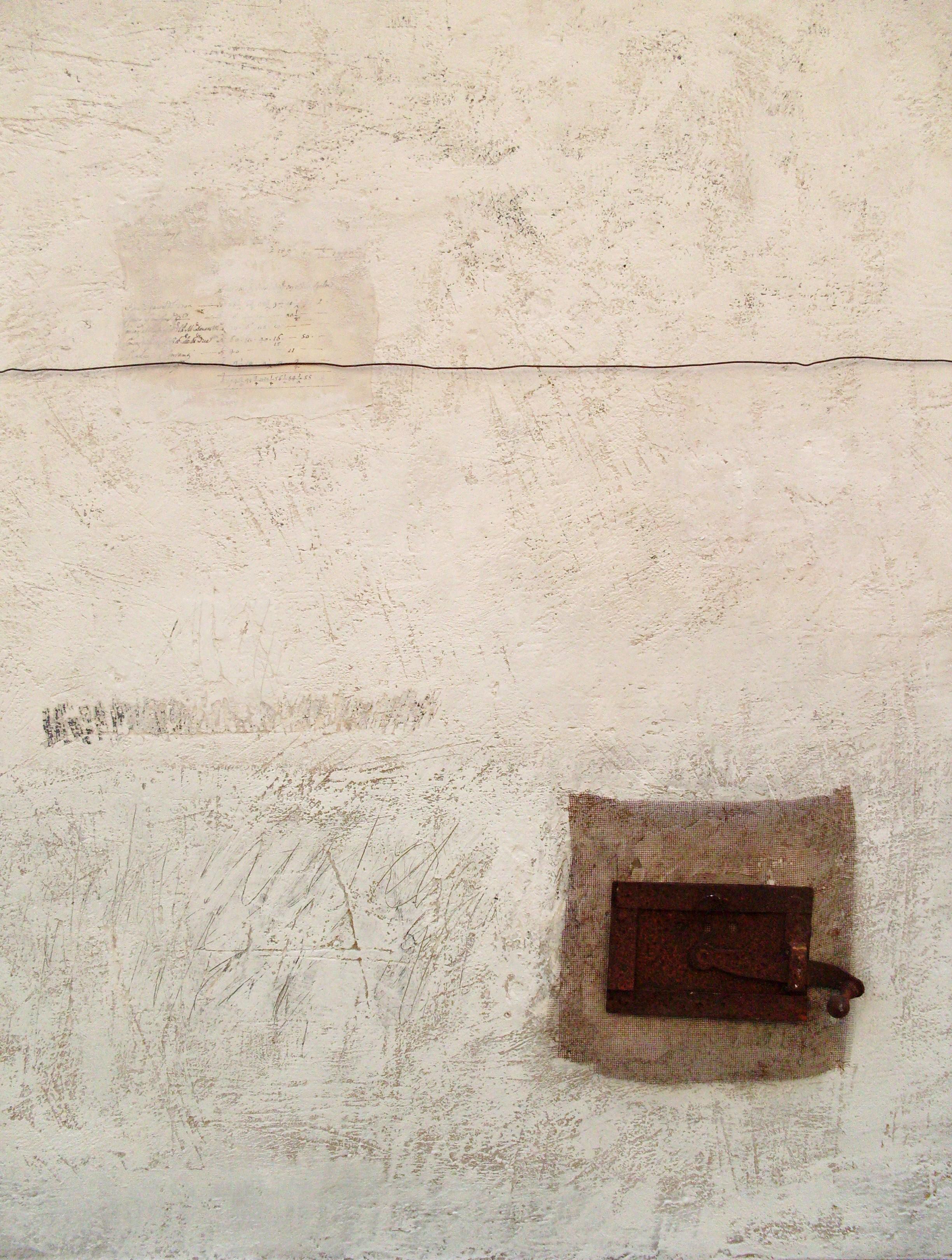 Il superamento del visibile, tecnica mista su tavola e ferro, 100x80, 2008