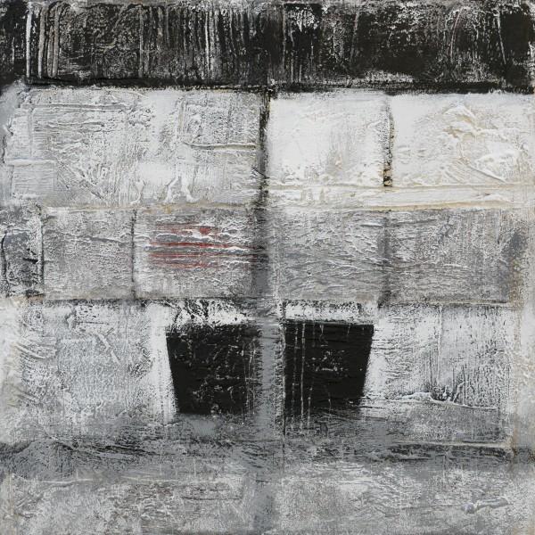 Nello spazio e nel tempo, 70x70, tecnica mista su tavola, 2015