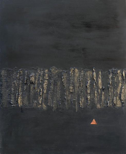 Orizzonti, 100x80, tecnica mista su tavola, 2015