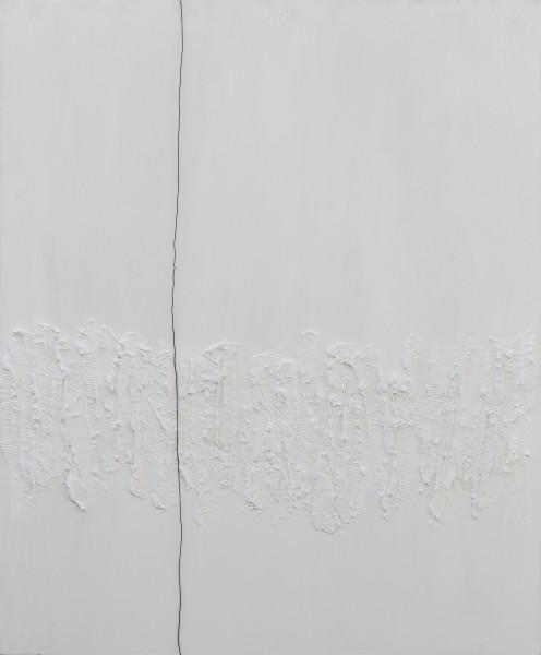 Percorsi, 120x100, tecnica mista e ferro su tavola, 2017