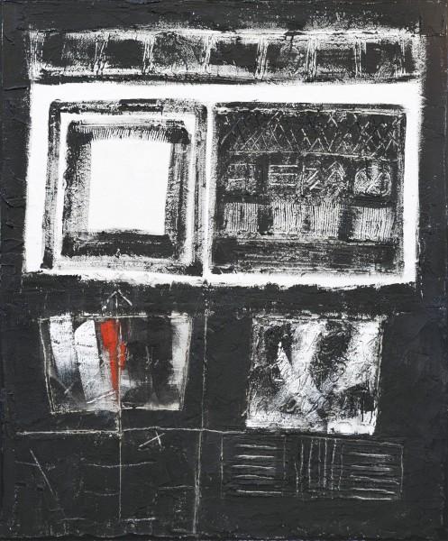 Punto di fuga, 120x100, tecnica mista su tavola, 2017