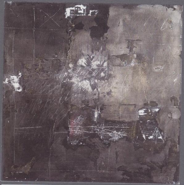 Riflessioni, 2007, tecnica mista su tavola, 70x70