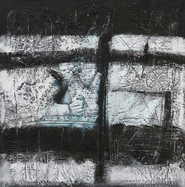 Riflessioni, 70x70, tecnica mista su tavola, 2015