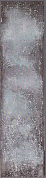 Stele, 1994, tecnica mista su tavola, 35x140