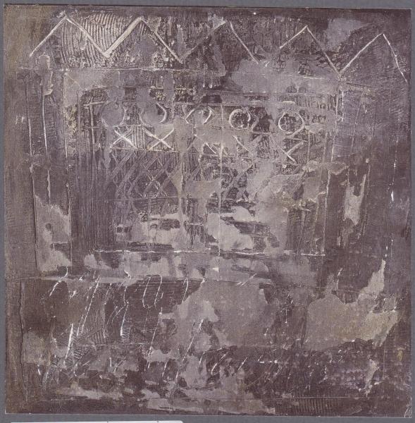 Trama dei sogni, 2000, tecnica mista su tavola, 70x70