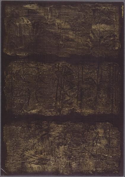 Vecchia storia, 1995, tecnica mista su tavola, 60x80