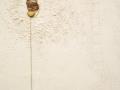 Confini come punto d'incontro, tecnica mista su tavola, spago e sasso, 100x80, 2011