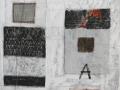 Diario, 100x120, tecnica mista e ferro su tavola, 2016