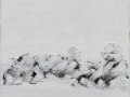 Inutilmente celato, 120x100, tecnica mista su tavola, 2017