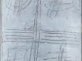 Scritture, 174x35, tecnica mista, ferro su tavola, 2018