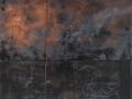 L'unità del molteplice, 120x100, tecnica mista, ferro corroso su tavola2014