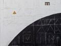 Il silenzio dei dialoghi, 120x100, tecnica mista, ferro, su tavola, 2019