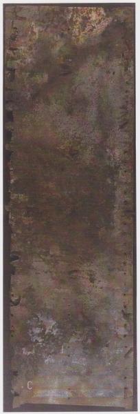 Frammentazioni 2, 2000, ferro corroso, 180x60