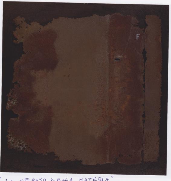 Lo spirito della materia, 2009, ferro corroso