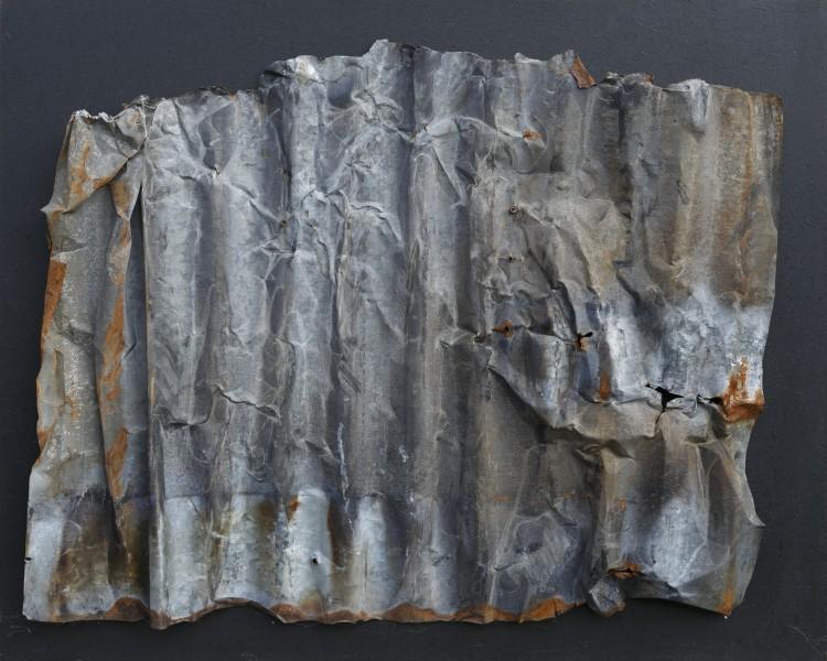 Armonie 1, 2016, ferro combusto su tavola, 80x99