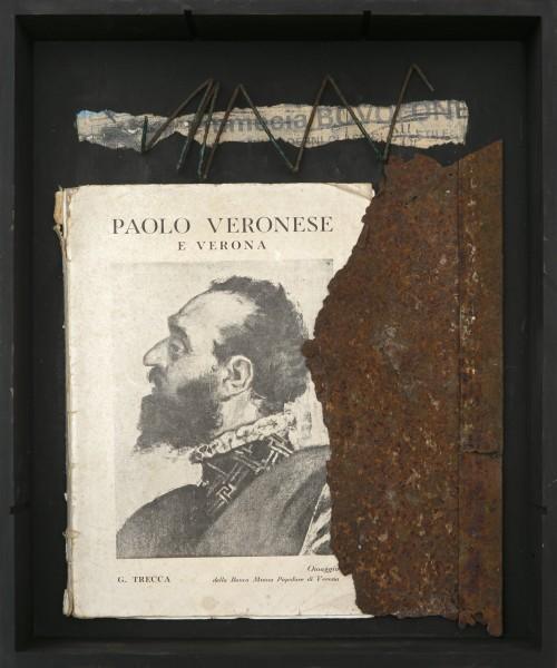 Senza titolo, 2016, ferro combusto e libro, inseriti in scatola di legno, 30x40