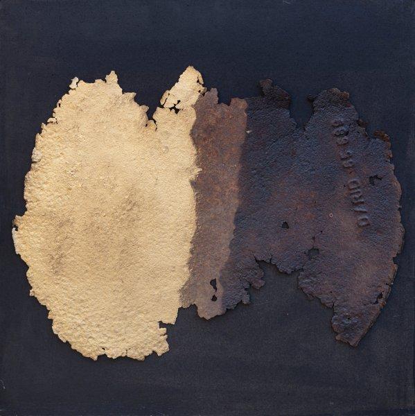 Sequenze, 60x60, ferro, smalto, su tavola, 2018