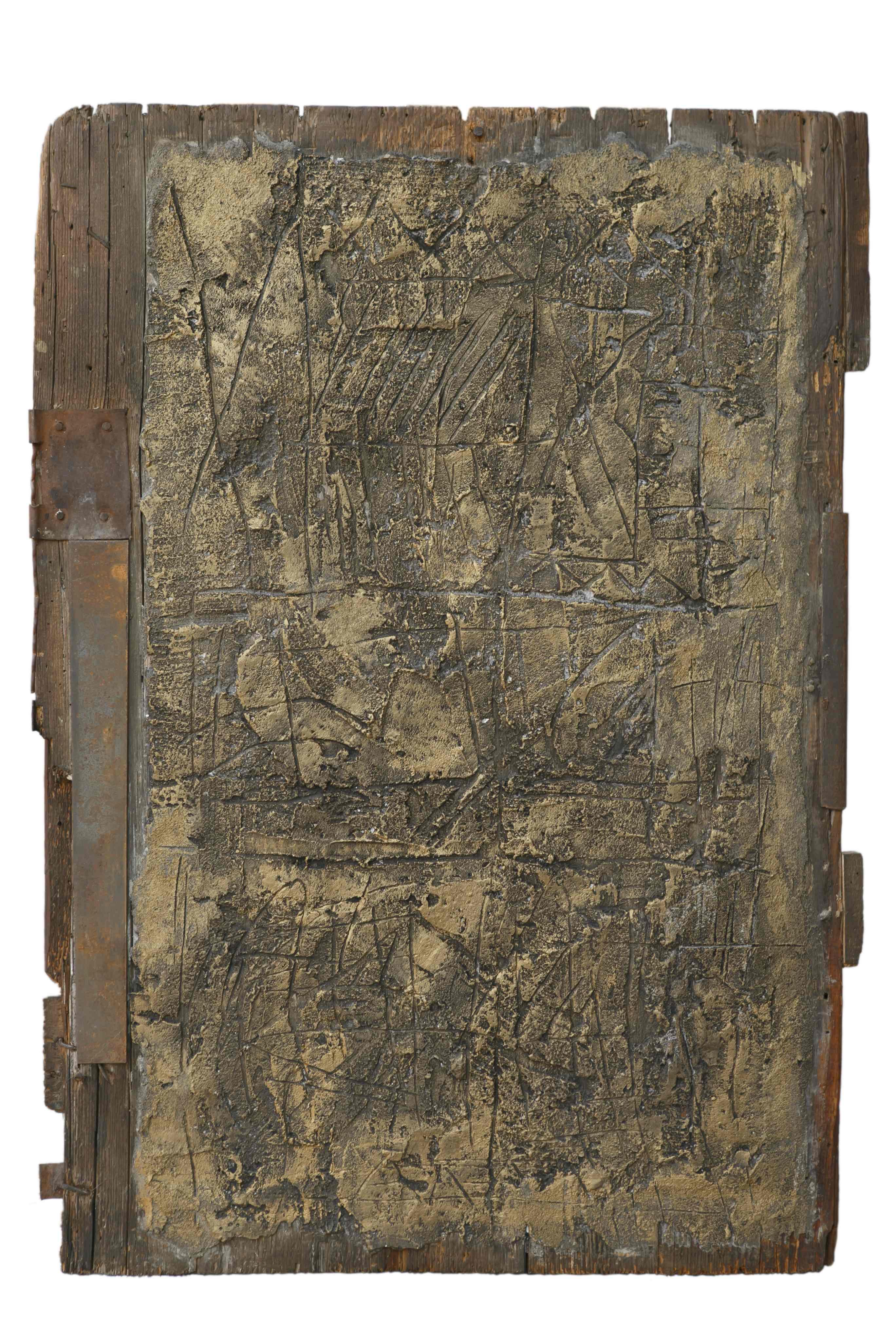 Viaggio nel tempo, tecnica mista ferro su tavola antica, 70x50, 2010
