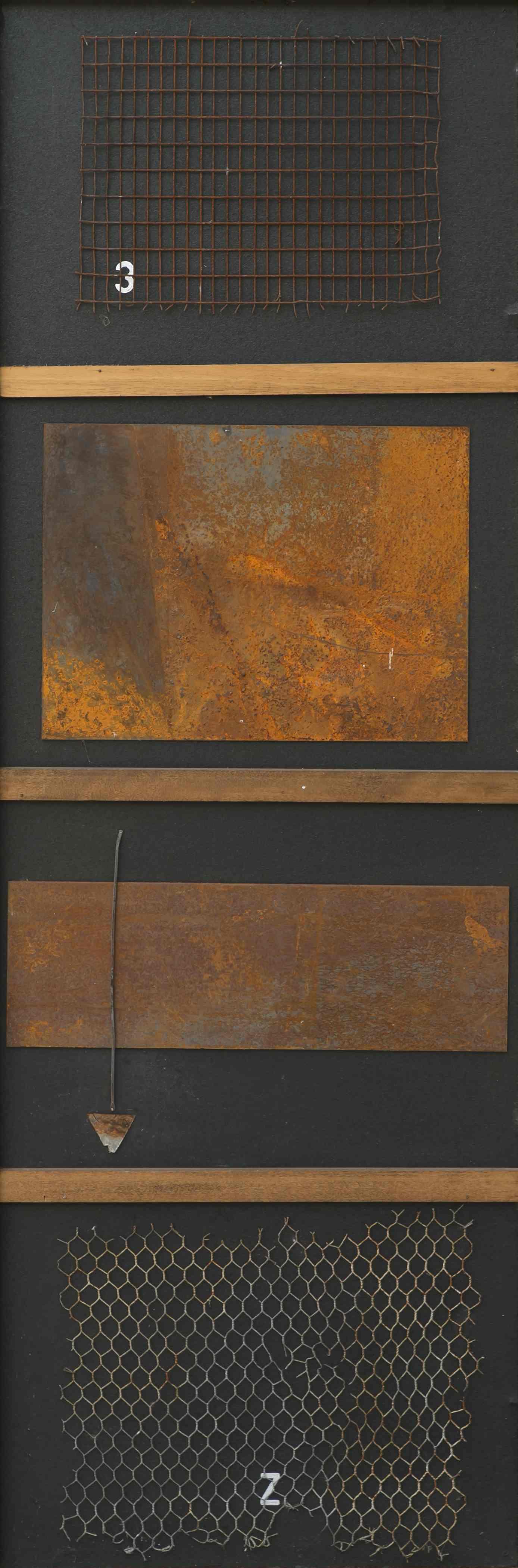 Catturando emozioni, ferro corroso su tavola, 152x52, 2010