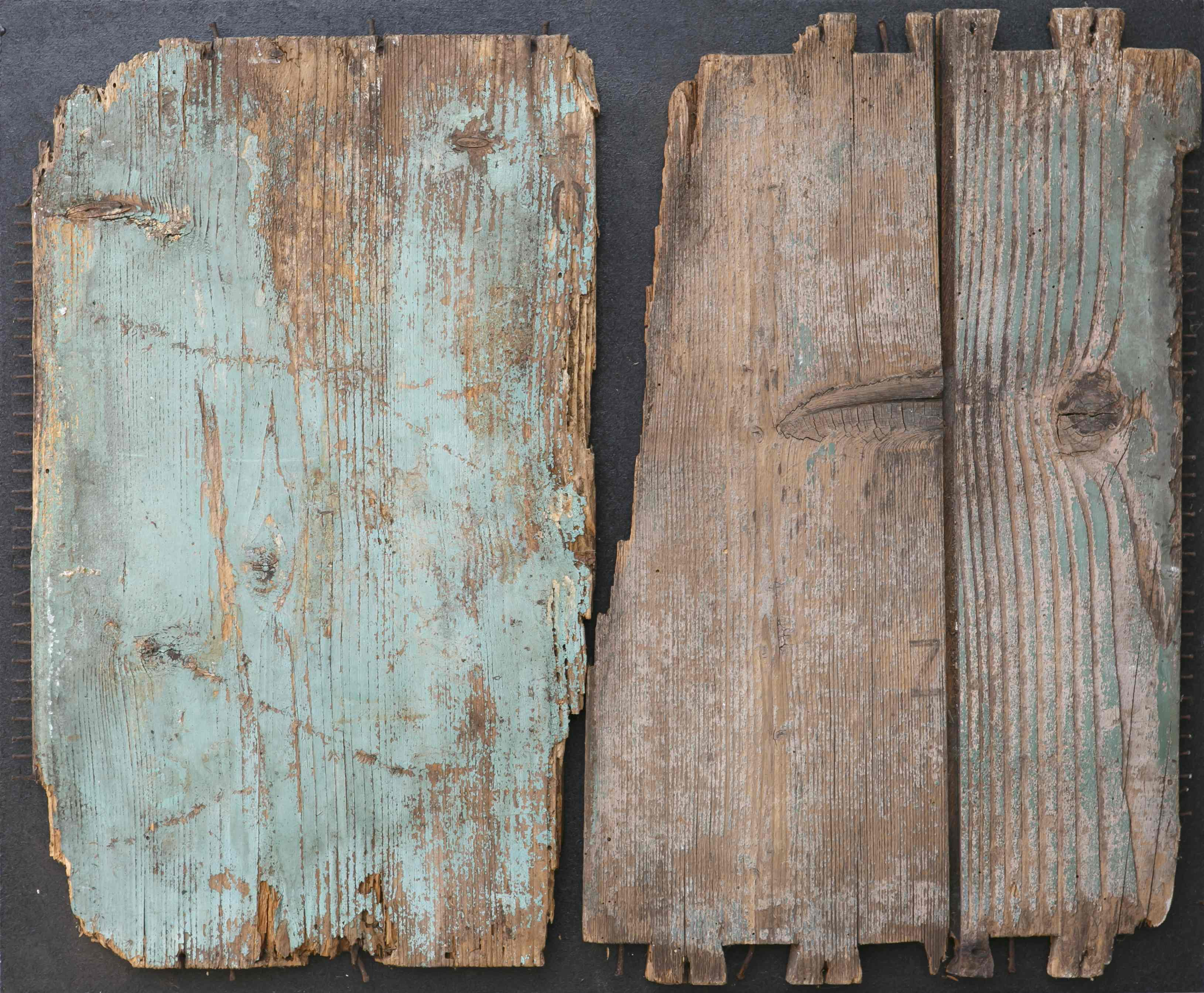Frammenti di strutture, legno su tavola, 63x53, 2003