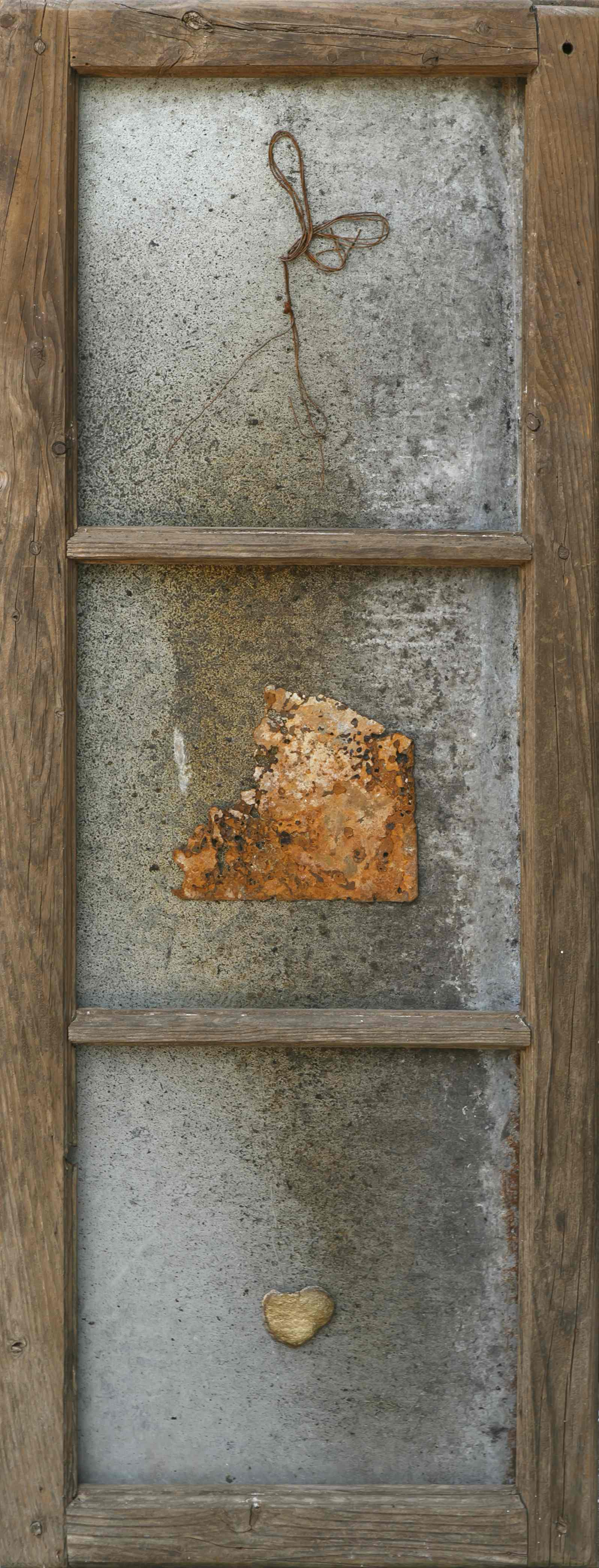 Viaggio nel tempo, ferro su telaio in legno, 105x39, 2002