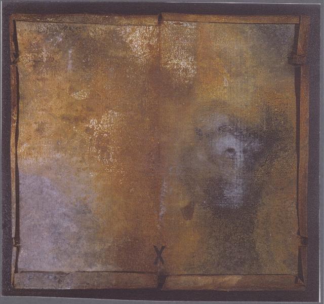 Pagina segreta, 2002, ferro corroso con copertura in plexiglas, 80x87
