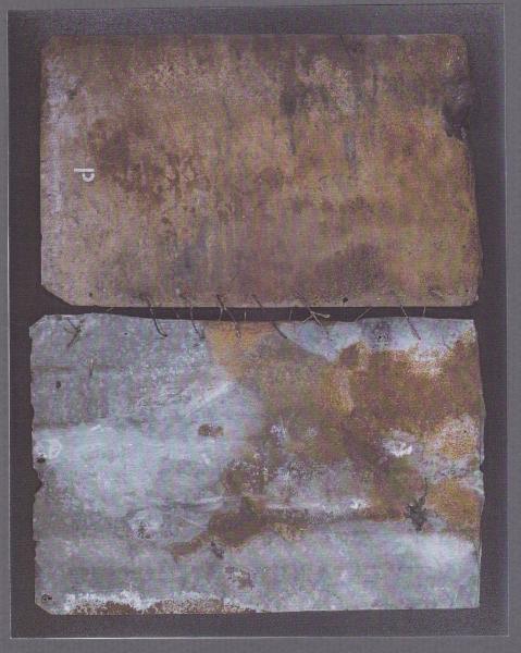 Pagine, 1999, ferro corroso su tavola, 93x73
