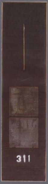 Registro, 2001, ferro corroso su tavola, 35x120