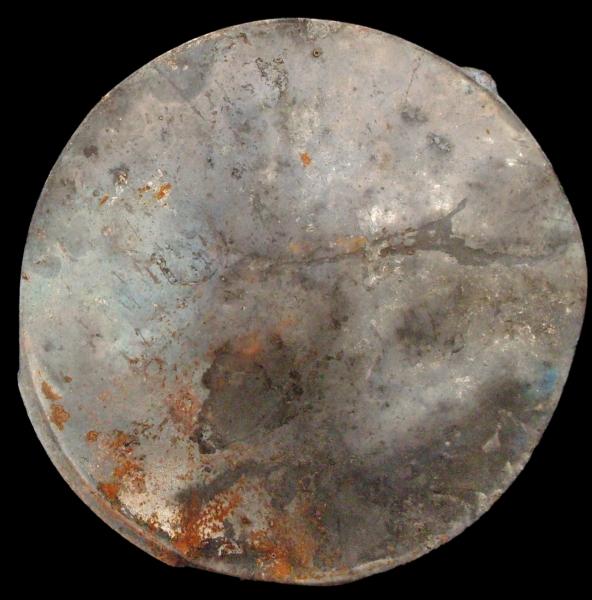 Evoluzione della materia 2, ferro combusto su tavola con copertura in plexiglas, 65x65, 2010