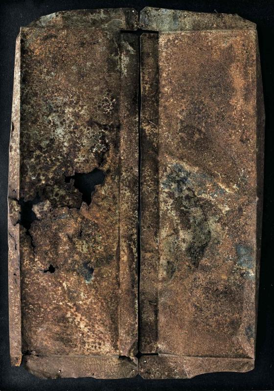 Il farsi e il rifarsi della forma 1, ferro combusto su tavola con copertura in plexiglas, 53x50, 1998