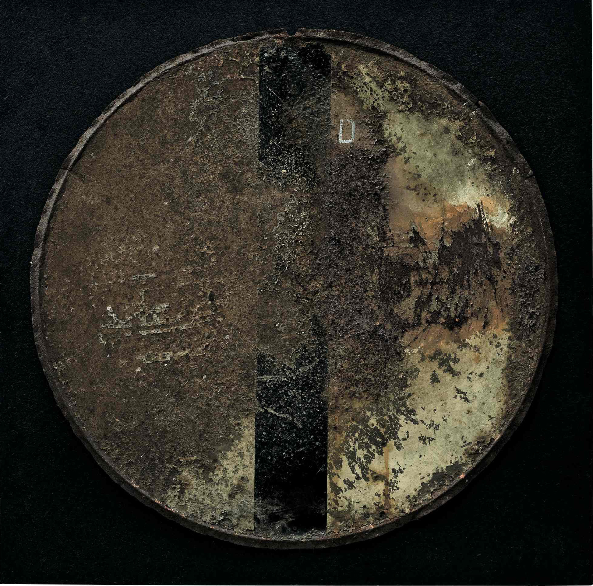 Segni affioranti, ferro su tavola, 70x70, 2006