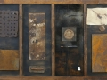 Archeologia, 100x150, ferro, vetroresina, collage, su tavola, 2013