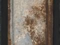 Profilo del tempo 2, 80x40, ferro arrugginito e plexiglas su tavola, 2017